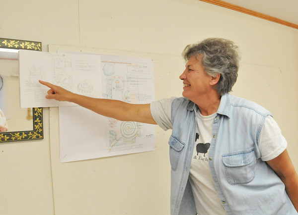 Ipswich:  Sister Pat Rolinger, executive director of the<br /> The Cuvilly Arts Center speaks about the school's renovation this summer. photo by Mark Teiwes / Salem News
