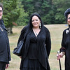 Topsfield: Salem residents Christian Day, left, Hex and Omen owner, Michele Jones, of Cohaven Corner and Lori Bruno a reader at Hex attended Eastern Mass Pagan Pride Day.  photo by Mark Teiwes / Salem News