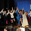 "Danvers: Danvers High School students perform during a dress rehearsal for ""The Wedding Singer"".  photo by Mark Teiwes / Salem News"