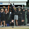 Beverly: Becky Convicer jumps in celebration of a hit by the Beverly High School team in the 17th inning.   photo by Mark Teiwes / Salem News