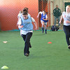 Topsfield: The North Shore United U-16 girls team trains at the Topsfield Fairgrounds. photo by Mark Teiwes  / Salem News