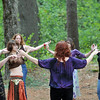 Topsfield: Karen Unimski of Arlington leads a goddess dancing workshop including a dance to teach about childbirth and sensuality.  Other workshops included a drum circle, basic herbalism, methods of sortilege, and traditional Mabon ritual.  .  photo by Mark Teiwes / Salem News