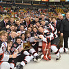 Boston: Marblehead celebrates its win in the state finals. photo by Mark Teiwes / Salem News