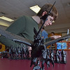 Hamilton:  Ryan Buchanan of Hamilton, 15, lines up his peices for a game.  In the foreground is a elf prince on a griffon.  The teens play and learn a variety of tabletop strategy battle games such as Warhammer 40k, Warhammer Fantasy, and Brikwars.    photo by Mark Teiwes / Salem News