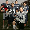 Middleton: North Shore Tech in Middleton has relied on several Gloucester area kids to lead the football team to a 7-1 record going into this weekend's game at Manchester-Essex. From left are seniors Eric Josephson and Dan Sanfilippo from Gloucester, juniors Kyle Pusateri from Essex and Paul Cerino from Gloucester, and senior Lenny Russo from Gloucester. Photo by Matthew Viglianti/Staff Photographer Tuesday, November 4, 2008.