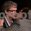 Danvers: Dr. Hugh Taylor gets a kiss from his wife, Elizabeth Bernick, after receiving the Philip D. Herrick Award last night in Danvers. Taylor is a family physician at Hamilton Family Medicine Associates. Photo by Matthew Viglianti/Staff Photographer Tuesday, January 13, 2009.