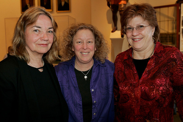Salem: From left, Linda Scott, Karen Pischke, and Lorraine Bunker, all from Gloucester, enjoy the evening at the Peabody Essex Museum in Salem during the WINGS Cares networking event. WINGS stands for Women in Networking - Giving Support - and the event raised money for Windrush Farm, which specializes in theraputic equitation. Photo by Matthew Viglianti/Staff Photographer Thursday, March 18, 2010.