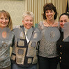 Beverly: From left, Becky Young, Kara McGarigal, Cindy Ekborg, and Deb Kumar, all parents of Ayers Ryal Side School students in Beverly, at the Franco-American Club for a Comedy Night fundraising event on Sunday. Photo by Matthew Viglianti Sunday, February 8, 2009.