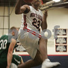Middleton: Jordan Smith from North Shore Tech soares to the basket during the third quarter of his team's home game against Essex Aggie in Middleton on Thursday. Photo by Matthew Viglianti/Staff Photographer Thursday, February 5, 2009.