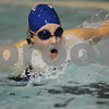 Danvers: Molly Leuke, a sophomore at Danvers High School, swims the butterfly leg of the 200 meter relay for the Falcons during their home meet against Salem on Tuesday. Photo by Matt Viglianti/Salem News Tuesday, January 06, 2009