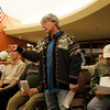 Middleton: Eileen Bakoian speaks in opposition to plans to designate an adult entertainment zone on land off Route 114 in MIddleton at a public hearing held by the Planning Board on Wednesday evening. Photo by Matthew Viglianti/Staff Photographer Wednesday, April 14, 2010.