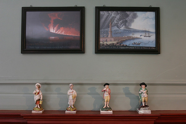 Salem: Paintings and figurines in the Crowninshield-Bentley House in Salem. The house, which is on the National Register of Historic Places, has been reopened after four years of renovations. Photo by Matthew Viglianti/Staff Photographer Tuesday, July 13, 2010.