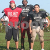 Salem: From left, Salem linebackers Tyler Mason, Chris Dunston, and Eugene De La Cruz hope to disrupt Swampscott's offense this week as the Big Blue visit Salem. Photo by Matt Viglianti/Salem News Wednesday, October 01, 2008