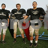 Marblehead: A trio of junior linebackers has helped the Marblehead Magicians' football team position themselves for the school's first playoff appearance. From left are Evan Comeua, Matt Evans, and Matt O'Neil. Photo by Matt Viglianti/Salem News Wednesday, November 12, 2008