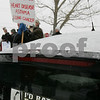 Salem: Protestors from HealthLink gather outside the Salem Power Station to advocate for the end of coal energy use on Sunday afternoon. Photo by Matthew Viglianti/Staff Photographer Sunday, March 1, 2009.