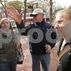 Salem: Joe Cole of Salem gives directions to Marie Benkenstein, left, and Alexandra Franke, right, who are both au pairs in Massachusetts recently over from Germany, in downtown Salem on Sunday. Photo by Matt Viglianti/Salem News Sunday, October 19, 2008