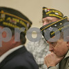 Beverly: J. Norman Komich, adjutant for the VFW Post 545 in Beverly, right, listens during a discussion about changing the Post's name during a special meeting on Monday night. Photo by Matt Viglianti/Salem News Monday, January 26, 2009