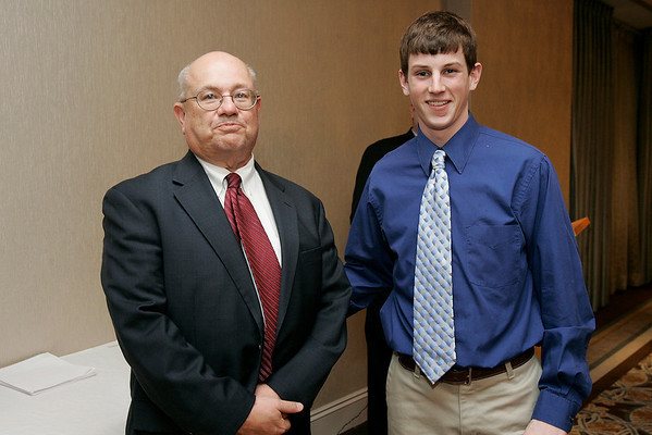 Salem News Student-Athlete Award dinner. Matt Rogers with Nelson Benton.