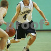 Hamilton: Jordan Yorks from the Landmark School basketball team dribbles against the Pingree defense during Landmark's game in Hamilton on Monday. Photo by Matthew Viglianti/Staff Photographer Monday, February 2, 2009.