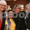 Salem: From left to right, Nancy Satin from Swampscott, Anne Kemelman from Salem, Sigrid Mucci from Salem, and Martha Stevenson from Salem, take a moment from celebrating Kemelman's 100th birthday at the Salem Waterfront Hotel on Thursday to pose for a picture. Photo by Matthew Viglianti/Staff Photographer Thursday, May 21, 2009.