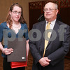 Salem: Kelly O'Connor from Beverly High School poses with Nelson Benton from the Salem News. Photo by Matthew Viglianti/Staff Photographer Wednesday, April 1, 2009.
