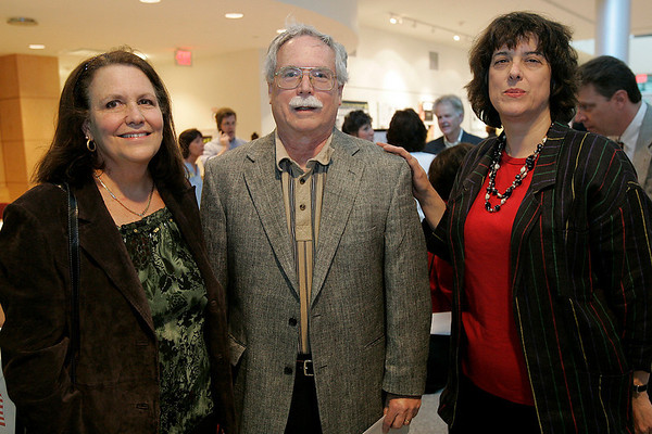 Beverly: From left, Jeanne Murdock, her husband, Dr. Thomas Murdock, and Susan Gogaiann, director of the Beverly Historical Society and Museum all of Beverly, enjoy a fundraiser for the renovation of the carriage house at Lynch Park in Beverly at Endicott College on Thursday. Photo by Matthew Viglianti/Staff Photographer Thursday, May 6, 2010.