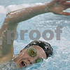 Marblehead: Megan Alexaner swims the 200 yard individual freestyle race for Marblehead during their home meet against Beverly on Monday. Photo by Matthew Viglianti/Staff Photographer Monday, February 2, 2009.