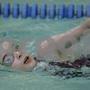 Peabody: Lauren Kass, 10, from Peabody, swims a freestyle lap while participating in the Piranha-thon 2009 fundraiser for her swim team at the Peabody-Lynnfield YMCA on Tuesday afternoon. During the Piranha-thon, swimmers raise money for each consecutive lap they swim, up to 200 laps or two hours of swimming. Photo by Matthew Viglianti/Staff Photographer Tuesday, February 10, 2009.