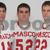 Beverly: Masco football players, from left, Chris Splinter, George Alexandrou, and Evan Bunker. Photo by Matthew Viglianti/Staff Photographer Wednesday, December 2, 2009.