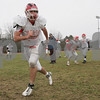 Topsfield: Masconomet senior captain Clay Cleveland warms up with the team during practice on Sunday afternoon. The Chieftains are preparing for their playoff game against Gloucester in Lynn on Tuesday. Photo by Matt Viglianti/Salem News Sunday, November 30, 2008