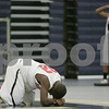 Lawrence: Marblehead senior Brandon Lee, left, and junior Taariq Allen, right, react to losing 53-52 to Belmont in the Division 2 North boys basketball semifinal state tournament game in Lawrence on Thursday evening. Photo by Matthew Viglianti/Salem News Thursday, March 05, 2009