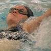 Peabody: Holly Smith swims the backstroke for the Peabody Tanners during their home meet against Beverly on Thursday night. Photo by Matthew Viglianti/Staff Photographer Thursday, December 17, 2009.