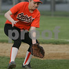 Beverly: Linsey Andrews from Beverly moves to field a ground ball while playing first base for the Beverly Girls Softball League Orioles during their game against the Rays on Wednesday at Harry Ball Field. Photo by Matthew Viglianti/Staff Photographer Wednesday, May 20, 2009.