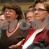 Beverly: Suzanne Larkin from Beverly poses a question for the Planning Board during a public hearing regarding the development of the former McDonald's site by the Black Cow, on Tuesday night at City Hall. Photo by Matthew Viglianti/Staff Photographer Tuesday, March 17, 2009.