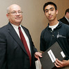 Salem News Student-Athlete Award dinner. Alfred Rossi III with Nelson Benton.