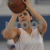 Swampscott: Swampscott senior Tara Nimkar lines up a jumper during a shooting drill at Thursday's practice. The girls basketball team is preparing for the state championship game in Worcester on Saturday. Photo by Matthew Viglianti/Staff Photographer Thursday, March 12, 2009.