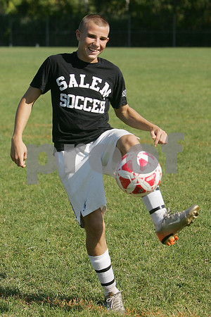 Salem: Mike Steeves, a senior soccer player at Salem High School, attended a military camp this summer, and is interested in joining the military after high school. Photo by Matt Viglianti/Salem News Wednesday, September 03, 2008