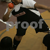 Marblehead: Jose Andrade from Marblehead prepares to release the shot put during an indoor meet between Marblehead, Swampscott, Salem, and Beverly in Marblehead on Thursday. Photo by Matthew Viglianti/Staff Photographer Thursday, December 11, 2008.