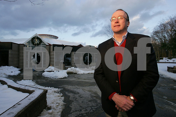 Beverly: David Fellows, chairman of the board of trustees of the North Shore Music Theatre, poses outside the Theatre on Thursday afternoon. The Theatre will close unless it raises $400,000 by the end of the month. Photo by Matt Viglianti/Salem News Thursday, January 08, 2009