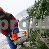 Beverly: Owen Tofuri, 2, from Beverly uses a toy chainsaw to help trim the bottom of a Christmas tree at Moraine Farm in Beverly on Sunday afternoon. The farm sold about 200 trees over the weekend, and will be open next Saturday and Sunday as well. Photo by Matt Viglianti/Salem News Sunday, December 07, 2008