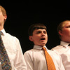 "Ipswich: From left to right, Ryan Davis, David Leff, and Luke Plummer perform as a solo ensemble while singing ""Sherry"" with the Ipswich Middle School Boys' Chorus during the Spring Choral Concert on Tuesday. Photo by Matthew Viglianti/Staff Photographer Tuesday, June 9, 2009."