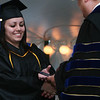 Swampscott: Nicole Carbone from Peabody receives her diploma during graduation at Marion Court College in Swampscott on Wednesday afternoon. Carbone graduated with high honors from the college. Photo by Matthew Viglianti/Staff Photographer Wednesday, May 26, 2010.