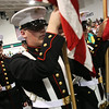 Beverly: The Beverly High School Marine Corp Junior ROTC Color Guard carries the American flag through the Post Center gymnasium at Endicott College during graduation ceremonies for the Beverly High School class of 2010 on Sunday. Photo by Matthew Viglianti/Staff Photographer Sunday, June 13, 2010.