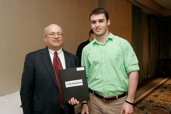 Salem News Student-Athlete Award dinner. John St. Pierre with Nelson Benton.