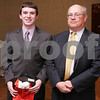 Salem: Gregory Doonan from Peabody High School poses with Nelson Benton from the Salem News. Photo by Matthew Viglianti/Staff Photographer Wednesday, April 1, 2009.