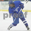 Salem: Danvers sophomore Kyle Larson fires a wrist shot on the Beverly net during the first period of the Falcons' away game against Beverly in Salem on Wednesday. Photo by Matt Viglianti/Salem News Wednesday, February 04, 2009