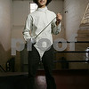 Danvers: Marco Egizi from Beverly, a sophomore on the St. John's Prep fencing team. Photo by Matthew Viglianti/Staff Photographer Monday, February 2, 2009.