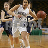Boston: Swampscott senior Tara Nimkar drives to the basket for the Big Blue during their state semifinal win over Archbishop Williams on Monday. Photo by Matt Viglianti/Salem News Wednesday, March 11, 2009