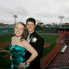 Boston: Alycia Toomey and Zach Kemmer pose at Fenway Park in Boston during the Beverly High School prom. Photo by Matthew Viglianti/Staff Photographer Thursday, June 10, 2010.