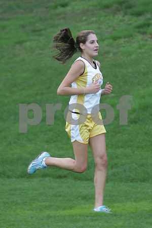 Peabody: Joanna DeLorenzo, a senior captain on the Bishop Fenwick cross-country team, competes for the Crusaders during their home meet against Marian on Tuesday. Photo by Matthew Viglianti/Staff Photographer, Tuesday September 29, 2008.